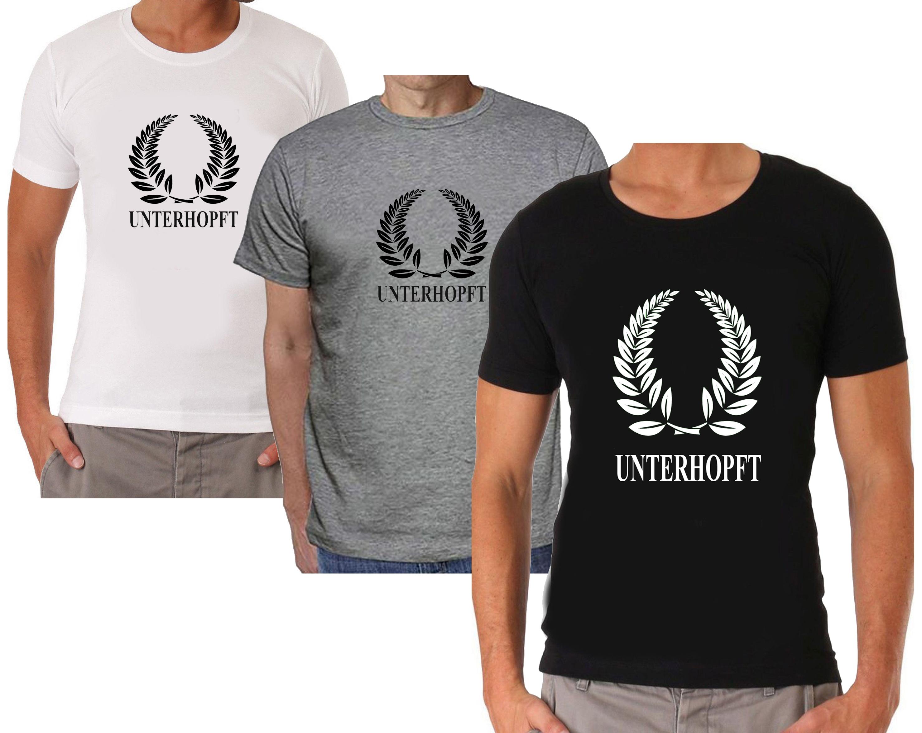 Lebensgefährlich Unterhopft Shirt T-Shirt schwarz Funshirt Bier 100/% BW S-5XL