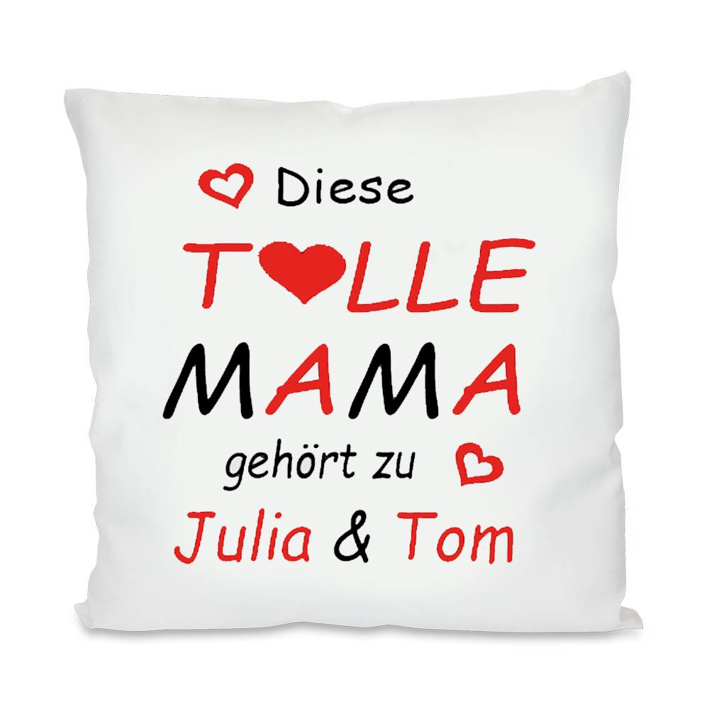Foto eigenem Logo Kissen mit Wunschdruck Wunschtext